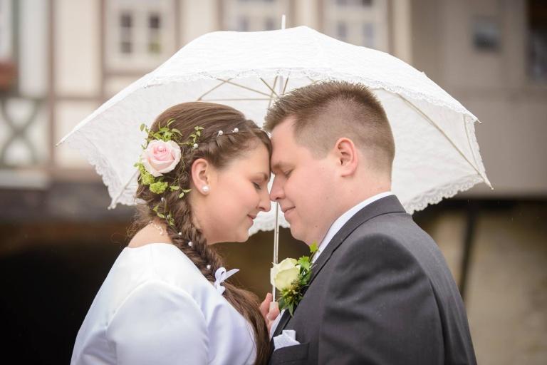 Fotostudio Erfurt Hochzeit bei Regen